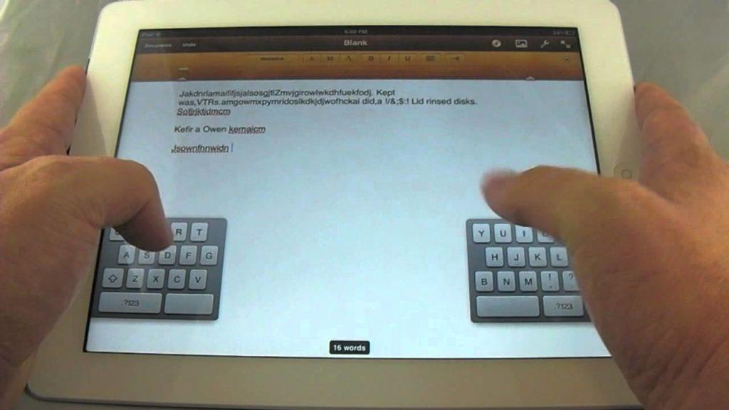 Bạn có thể chia đôi bàn phím ảo trên chiếc iPad của mình